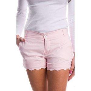 Lauren James Poplin Scalloped Shorts